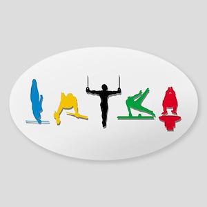 Men's Gymnastics Sticker (Oval)
