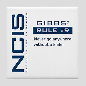 NCIS Gibbs' Rule #9 Tile Coaster