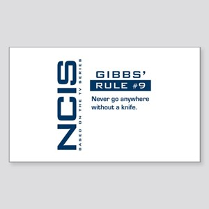 NCIS Gibbs' Rule #9 Sticker (Rectangle)