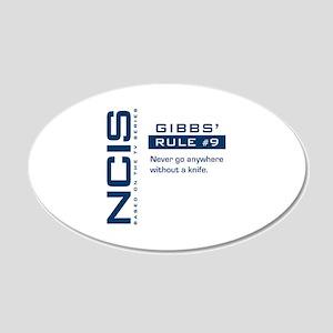 NCIS Gibbs' Rule #9 22x14 Oval Wall Peel