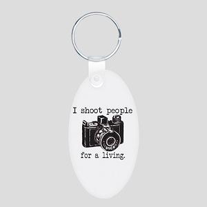 I Shoot People - Aluminum Oval Keychain