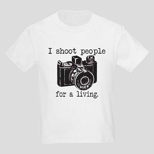 I Shoot People Kids Light T-Shirt
