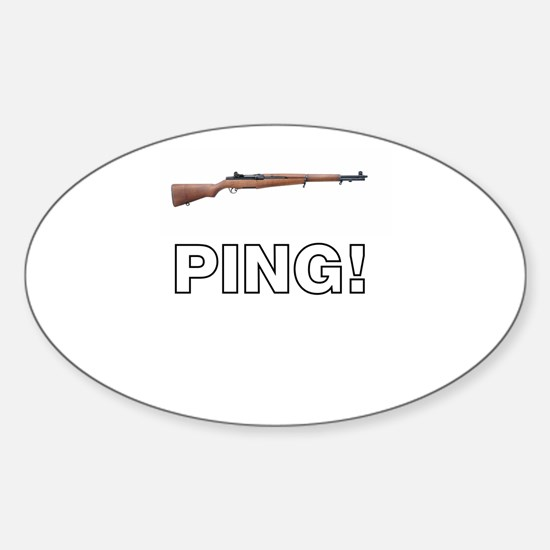 PING! Sticker (Oval)