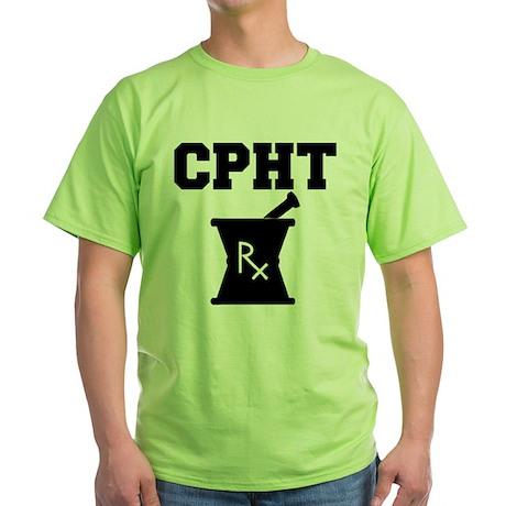 Pharmacy CPhT Rx Green T-Shirt