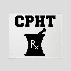 Pharmacy CPhT Rx Throw Blanket