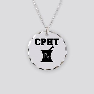Pharmacy CPhT Rx Necklace Circle Charm