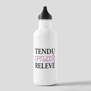 Tendu, Plie, Releve (Pink Design) Stainless Water