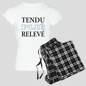 Tendu, Plie, Releve (Blue Design) Women's Light Pa