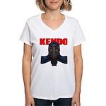 Kendo Men1 Women's V-Neck T-Shirt