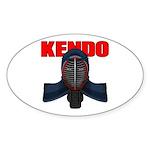 Kendo Men1 Sticker (Oval 50 pk)