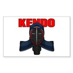 Kendo Men1 Sticker (Rectangle 50 pk)