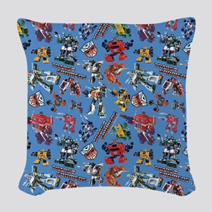 Transformers Vintage Pattern Woven Throw Pillow