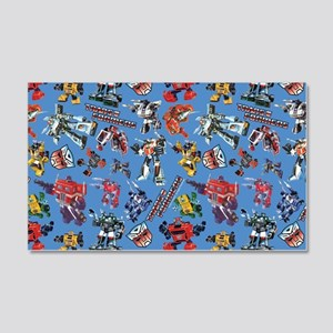 Transformers Vintage Pattern 20x12 Wall Decal