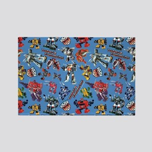 Transformers Vintage Pattern Rectangle Magnet