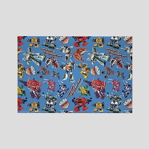 Transformers Vintage Pattern Rectangle Magnet