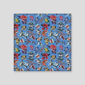 "Transformers Vintage Patter Square Sticker 3"" x 3"""