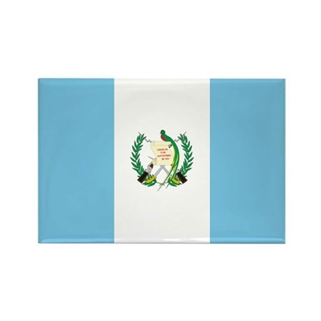 Guatemala Flag Rectangle Magnet (100 pack)