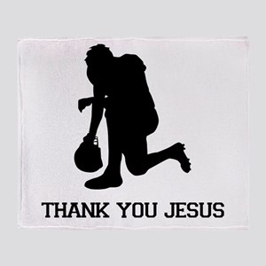 Tebowing - Thank You Jesus Throw Blanket