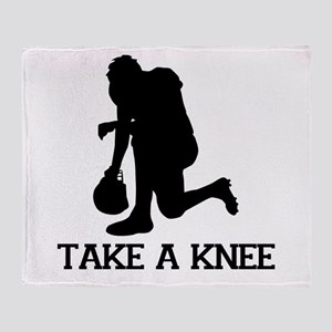 Tebowing - Take a Knee Throw Blanket