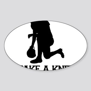 Tebowing - Take a Knee Sticker (Oval)