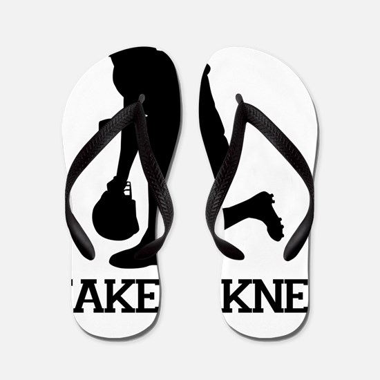 Tebowing - Take a Knee Flip Flops