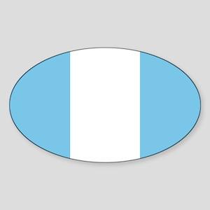Guatemala Civil Ensign Sticker (Oval)