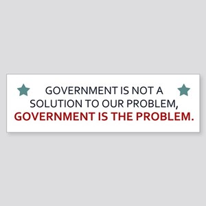 Government Is The Problem Sticker (Bumper)