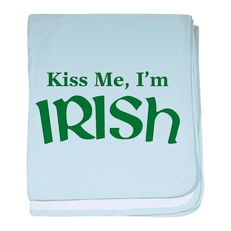 Kiss Me, I'm Irish baby blanket