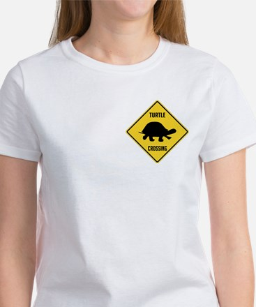 Turtle Crossing Sign Women's T-Shirt
