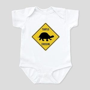 Turtle Crossing Sign Infant Bodysuit