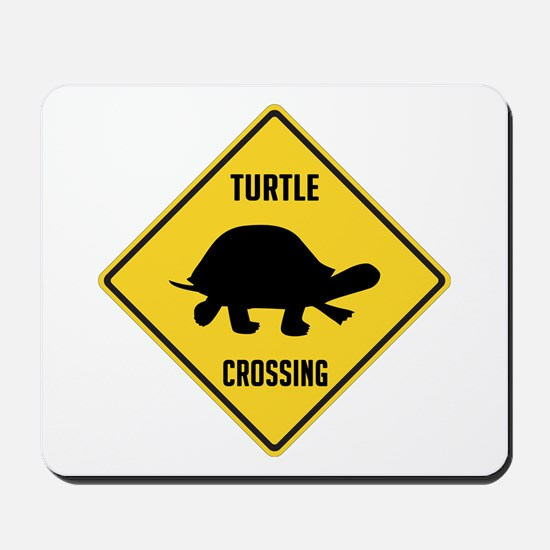 Turtle Crossing Sign Mousepad