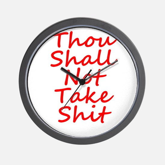 Thou shall not, Wall Clock