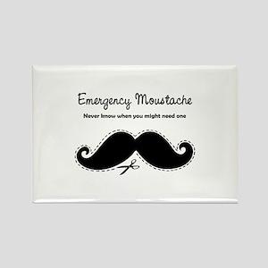 Emercency Moustache Rectangle Magnet