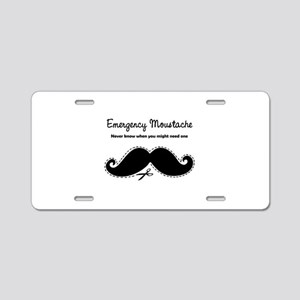 Emercency Moustache Aluminum License Plate