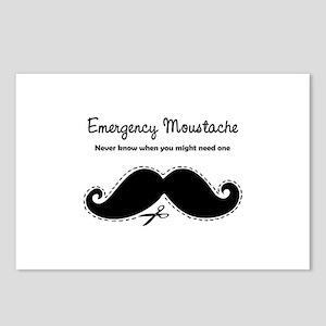 Emercency Moustache Postcards (Package of 8)