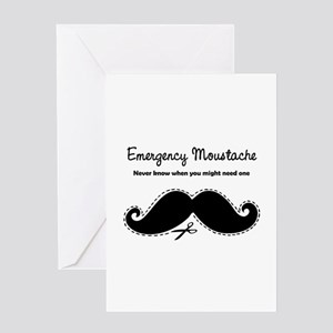 Emercency Moustache Greeting Card