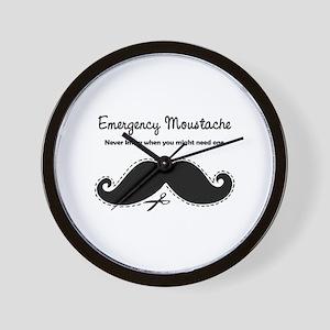 Emercency Moustache Wall Clock
