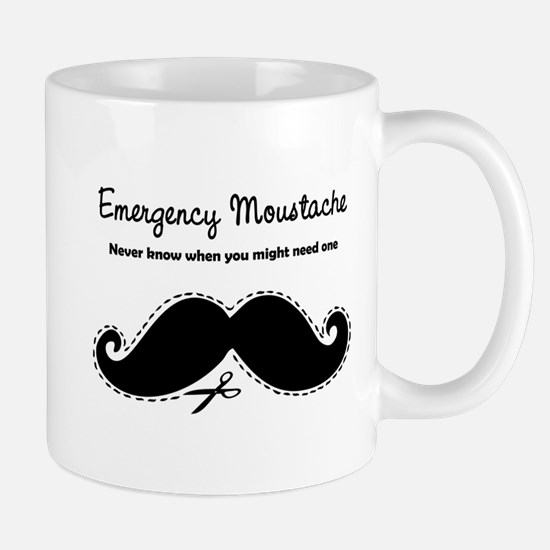 Emercency Moustache Mug