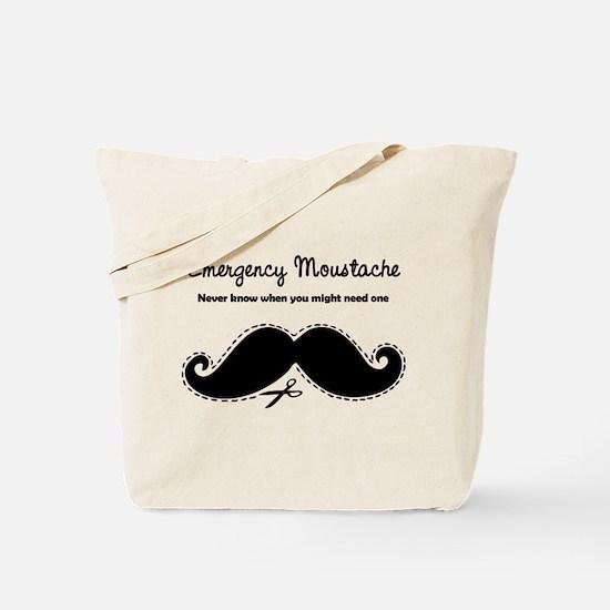 Emercency Moustache Tote Bag
