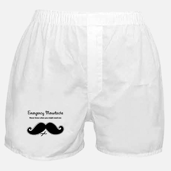 Emercency Moustache Boxer Shorts