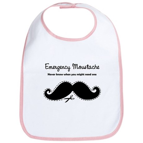 Emercency Moustache Bib