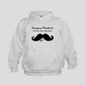 Emercency Moustache Kids Hoodie