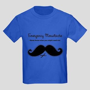 Emercency Moustache Kids Dark T-Shirt