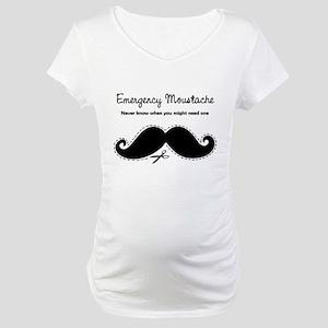 Emercency Moustache Maternity T-Shirt