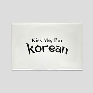 Kiss Me, I'm Korean Rectangle Magnet