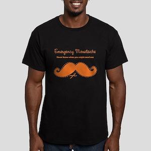 Emercency Moustache Men's Fitted T-Shirt (dark)