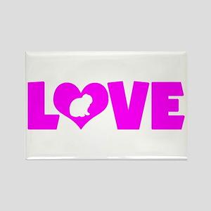 LOVE LOP RABBIT Rectangle Magnet