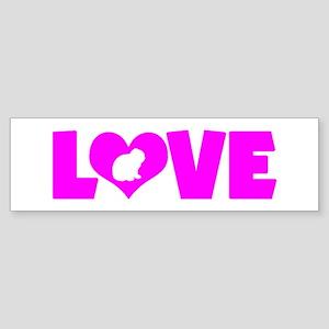 LOVE LOP RABBIT Sticker (Bumper)