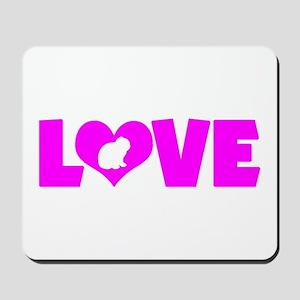 LOVE LOP RABBIT Mousepad