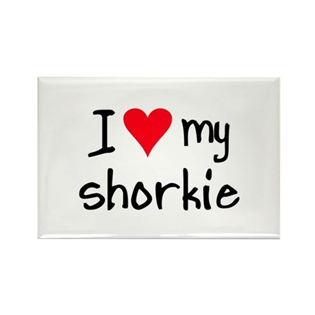 I LOVE MY Shorkie Rectangle Magnet (10 pack)